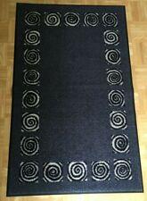 Wash+Dry Fußmatte grau Spiralen waschbar Schmutzmatte Türvorleger