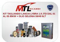 KIT TAGLIANDO LANCIA LYBRA 1.9 JTD DAL 01 AL 05 85KW + OLIO SELENIA 5W40 6LT