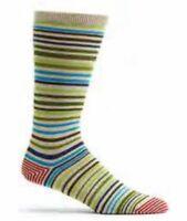 Men's Scandinavian Stripes Socks - Green **Free Shipping**