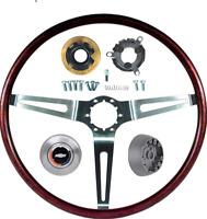 OER Rosewood Tilt Steering Wheel Kit 1967-1969 Chevy Camaro Impala Nova Caprice