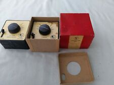 TRIX TTR 472 PAIR OF CONTROLLERS BOXED AND UNBOXED UNTESTED TWIN RAILWAY 1950s