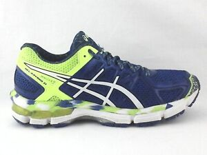 ASICS Gel Kayano 21 Running Shoes Blue Yellow C459N Mens US 6.5 EU 39.5 $160