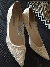 Thurley Lace Pointy Toe Dress Heels Size 40