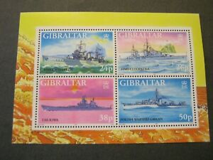 GIBRALTAR  1997  WARSHIPS  MINIATURE SHEET  SG MS809  MINT NEVER HINGED