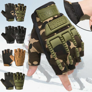Motorcycle Gloves Military Tactical Half Finger Hard Knuckle Sports Army Hunting