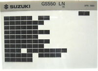 Suzuki GS550L 1979 Parts Microfiche s331