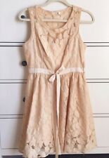 Pins And Needles Urban Outfitters Cream Lace Dress Women's 4 Lined Boho Romantic