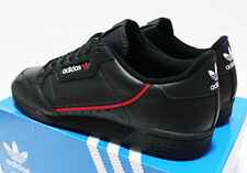 NIB ADIDAS Continental 80 Men's Black Leather Scarlet-Red 11 Sneakers trainers