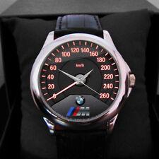 Hot Reloj BMW M Power M3 Logo Speedometer Leather Sport Watch Men Wristwtches