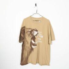 KERUSSO Lion Big Logo Graphic T Shirt Brown | 2XL