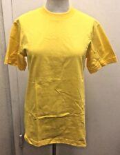 SHAKA ACTIVE  Woman's !00% Yellow Cotton Short Sleeve Crew Neck T-Shirt Sz Small