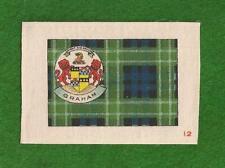 CLAN GRAHAM CLAN TARTAN  printed on silk & Coat of Arms with motto 1922 original