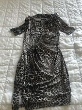 Magnifique Robe Sexy Manches 3/4 GUESS  By Marciano Taille 42 Fr 46 It Léopard