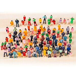 100 stück Miniaturfiguren im Maß. 1: 100 HO Modell für Modeleisenbahn