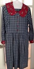 Bryn Connelly Vintage Plaid Dress Hippy Chic Small Empire Waist Prairie Proper