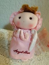 Nwt Vintage Kamar Big Eye Pink Praying Angel Love Soft Stuffed Cloth Doll