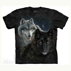 Mountain Adult T-shirt Star Wolves