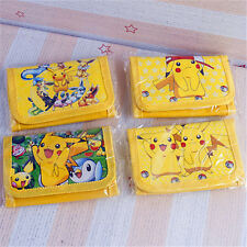 Pokemon Pikachu Kids Wallet Set For Christmas Gift Foldable Child Purses Pokémon
