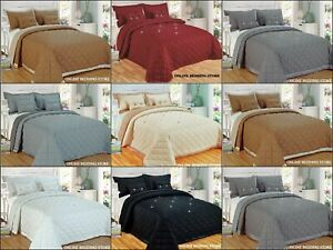 New Luxury Reversible 5 Pieces Diamond Bedspread With matching pillow case(s)