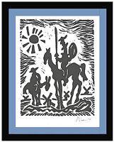 """Pablo Picasso Hand Signed Ltd Edition Print """"Don Quixote"""" w/COA (unframed)"""