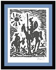 """Pablo Picasso Original Ltd Ed Print """"Don Quixote"""" Hand Signed w/COA (unframed)"""