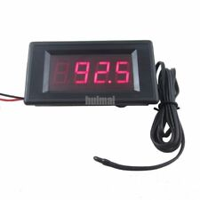 Thermometer High Low Alarm -76 to 257 Temperature 12V Red Digital Fahrenheit