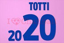 Totti #20 EURO 2000 Italy Awaykit Nameset Printing