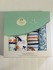New listing New Nwt Aden + Anais Disney Baby Jungle Muslin Swaddles Blankets blue color 4 Pk