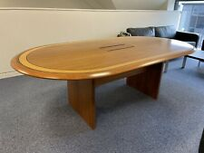 More details for solid wood conference table with power