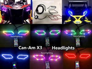 fiacarlighting Chasing LED Bluetooth Headlight Halos for CanAm Maverick X3 (A02)