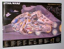 1997 Star Wars Millennium Falcon movie poster: Han Solo/Princess Leia/Chewbacca