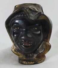 ANTIQUE A.C. WILLIAMS BLACK 2 SIDED FACE CAST IRON COIN BANK