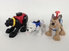 LOT (3) Fisher Price Rescue Heroes Toy Animal Action Figures Dog Panther