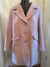NEW Windsmoor Paul Costello Womens Wool & Cashmere Dusty Pink Coat 14