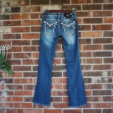 Buckle MISS ME Embellished Signature-Rise Bootcut Jeans 25 x 32 EUC