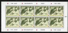 AA46 Belgien Heftchenblatt 100 Jahre Rotes Kreuz 1963, Mi 1327 postfrisch