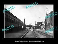 OLD LARGE HISTORIC PHOTO OF ROME GEORGIA, THE RAILROAD DEPOT STATION c1940 1