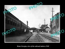 OLD LARGE HISTORIC PHOTO OF ROME GEORGIA THE RAILROAD DEPOT STATION c1940 1