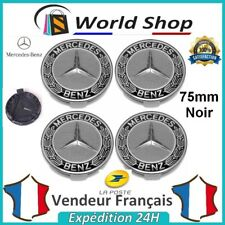 4 centres de roue Mercedes Cache moyeu 75mm jantes logo sigle AMG 75 mm noir TB