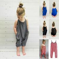 2017 Newborn Baby Infant Girls Summer Sleeveless Jumpsuit Cotton Bodysuit Romper