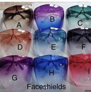 Face Shield Face Mask Transparent Glasses ASTRO Visor Anti-Fog Multiple Colors