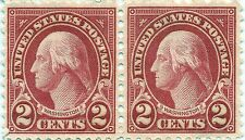 U.S. Scott GEORGE WASHINGTON 2 CENT CARMINE STAMP no gum UNUSED good cond