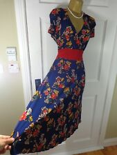 Twiggy Collection Blue Floral  Dress, UK 22, New Without Tags REDUCED