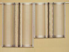 Scheibengardinen 2 x Breite 52 cm x Höhe 47/58 cm- neu - modern Gardine Paneel