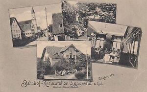 Ansichtskarte Bayern 8901 Langweid am Lech Bahnhof Restauration k