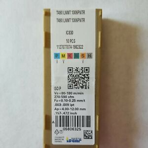 T490 LNMT 1306PNTR IC830 ISCAR (10 PCS) FACTORY SEALED PACKAGE NOS AUTHENTIC