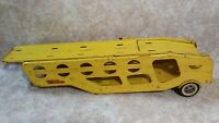 Vintage 1960's Tonka Car Transport Carrier Trailer Only Yellow Pressed Metal Toy