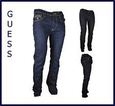 GUESS jeans denim da uomo slim fit elasticizzato a gamba dritta dritti svasati