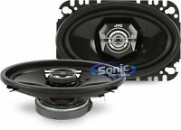 """JVC CS-V4627 40W RMS 4"""" x 6"""" 2-Way DRVN Series Coaxial Car Stereo Speakers"""