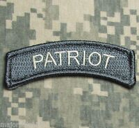 PATRIOT TAB US ARMY USA MILITARY TACTICAL ISAF OAF ACU LIGHT HOOK MORALE PATCH